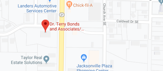 map of terry bonds o d vision care